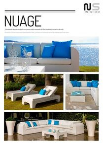 aluminium garden sofas and armchairs set NUAGE in Marbella