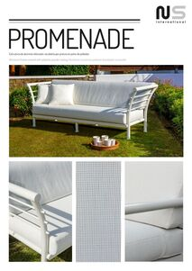 garden aluminium armchairs and sofas set in Estepona