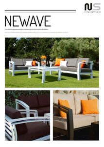 outdoor aluminium armchairs and sofas set newave in cadiz