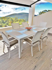 Garden furniture in modern style in Costa del Sol Spain