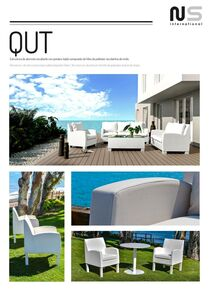 White aluminium armchairs and sofas set in Malaga